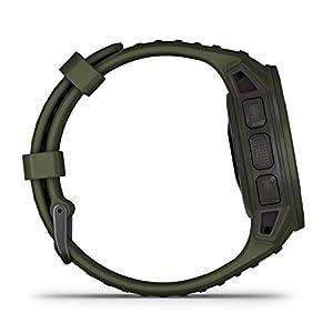 Garmin Instinct Tactical Solar, Reloj GPS resistente con carga solar - Verde Militar