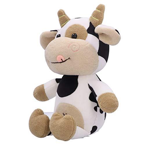 Juguete de peluche   Lindo muñeco de peluche de vaca, hermosos y prácticos peluches de vaca, juguetes para niños, regalo de cumpleaños de Navidad para niños y niñas.