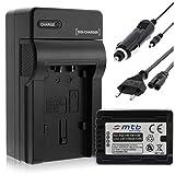Batería + Cargador (Coche/Corriente) para VW-VBT190 / Panasonic HC-VX989. / HC-W570, W850, WX979. v. Lista! con Infochip