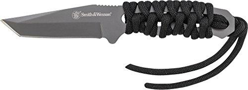 Smith & Wesson Unisex– Erwachsene Smith&Wesson Neck Knife Taschenmesser, schwarz, one Size
