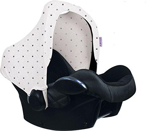 Original DOOKY HOODY * Style UV+ ** Capote / Protège pare-soleil -- Universel pour siège auto Maxi-Cosi (Citi, Pebble, CabrioFix, Cabrio,... ), Römer, Cybex et autre (Crowns)
