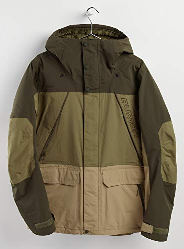 Burton Herren Breach Snowboard Jacke, Forest Night/Martini Olive/Kelp, M