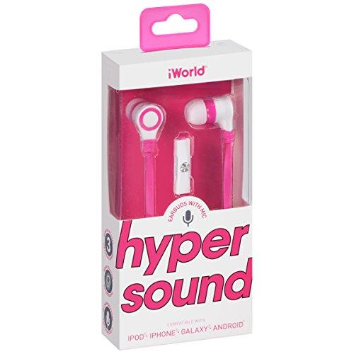 iWorld Hyper Sound Earbuds with Mic 1 pr Box