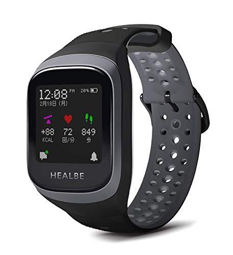 [ゴービー3]HEALBE GoBe3 スマートウォッチ ウェアラブル スマートバンド 腕時計 摂取カロリー自動計測 HGB3-BK-GY [正規輸入品]