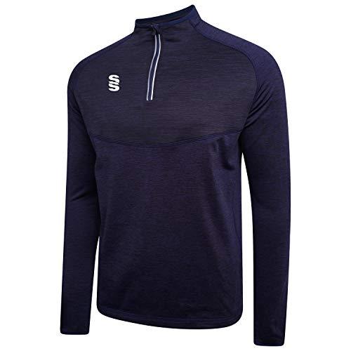 Surridge Sports Dual 1/4 Zip Capa Intermedia, Infantil, Azul Marino, Talla única