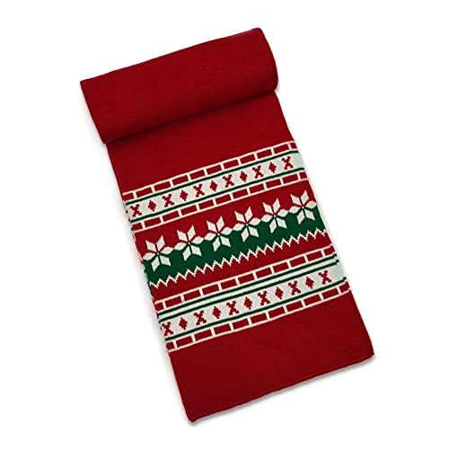 Roadoor Kit de decoraciones para Navidad, sombrero de Navidad conjunto de punto con puños estilo europeo padre-hijo bufanda sombrero conjunto