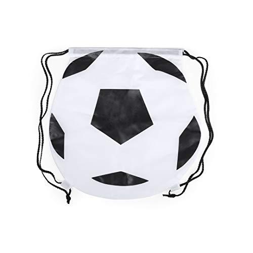 Lote de 20 Mochilas Football con Cordones Negro. Mochilas para niños de Futbol. Mochilas Escolares Baratas. Mochilas petate niños