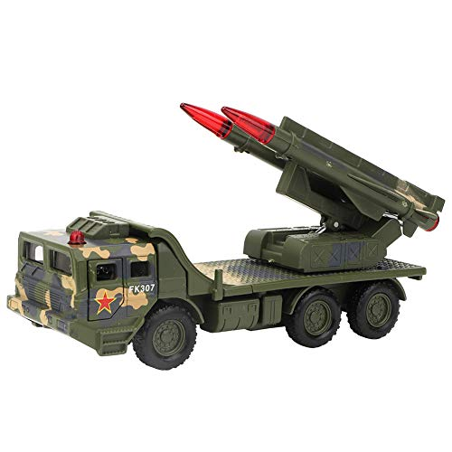 Maßstab 1:55 Raketenwerfer Realistischer Krieg Militärische Kampffahrzeuge Bewegliche Raketenabschussrampe für Indoor Outdoor Spielen(Grün)