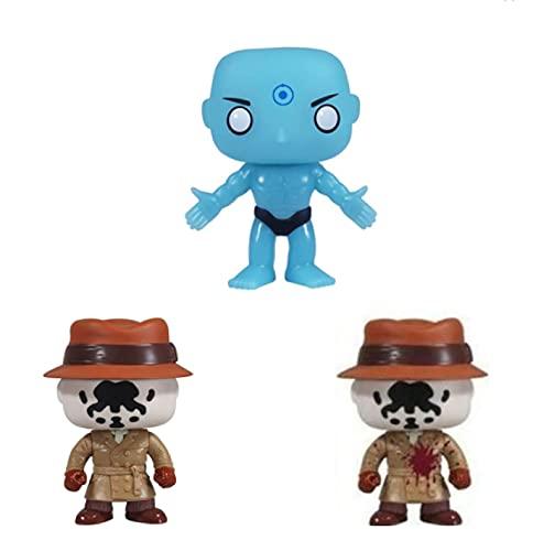3Pcs Anime Pop Watchmen Rorschach Dr.Manhattan Pop Mit Box Vinyl Action Figure Sammlermodell Spielzeug Für Geburtstagsgeschenke 10Cm
