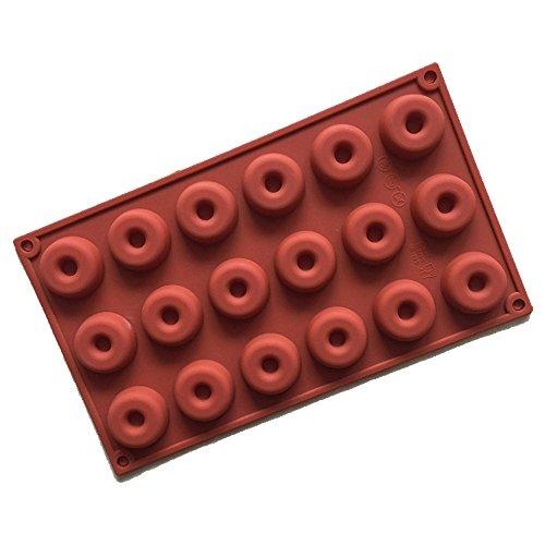 Ndier Stampo in Silicone Set di 18 Cività Stampi Muffin 3D Doughnut Rotondo per Dolci, Cottura, Mini Torta, Cupcake, Cioccolato, Ghiaccio, ecc