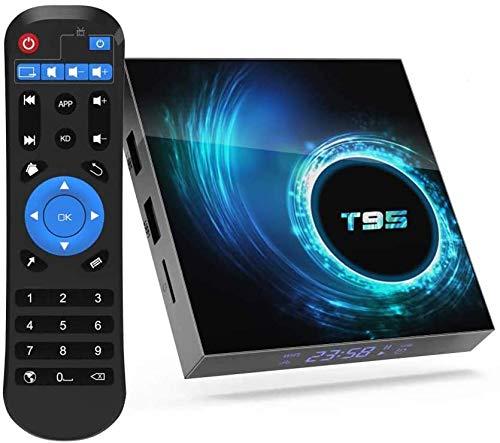 T95 Smart TV Box Android 10.0 Allwinner H616 4GB 128GB 2.4G 5G Dual WiFi Bluetooth 4K Media Player Android TV Box X96Q Set top box