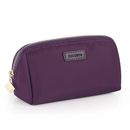 CHICECO Nylon Klein Kosmetiktasche Damen Schminktasche für Handtasche Makeup Tasche - Dunkelviolett