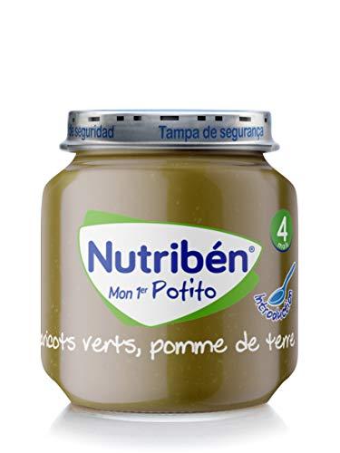 Nutribén Mon Premier Potito, Petit Pot Bébé, Haricots Verts, Pomme de Terre, Repas pour Bébé, Dès 4 Mois, 120 g