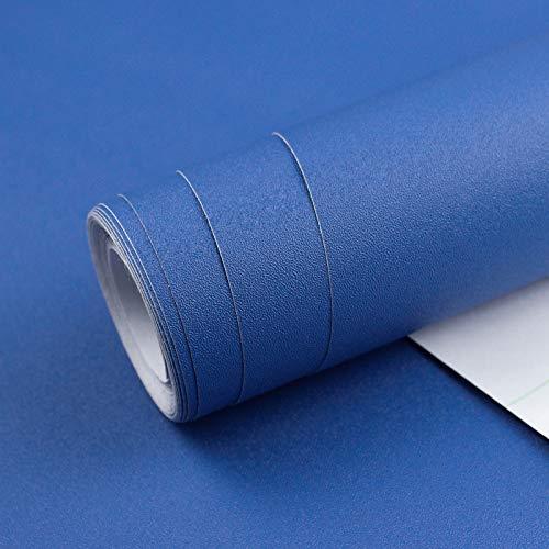 Homease Klebefolie Möbel Selbstklebende PVC Selbstklebende Tapete Blau Matte, 3 x 0.4 M, verdickt wasserdicht Möbelfolie, Dekofolie für Küchen Schränken Wand Tischplatte