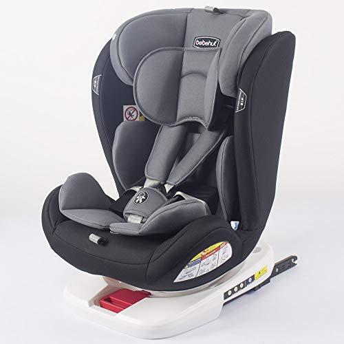 Baby Kindersitz Autokindersitz Gruppe 0+1/2/3 (0-36 kg/0-12 Jahre) mit ISOFIX ECE R44/04 TG19008-D02 grau