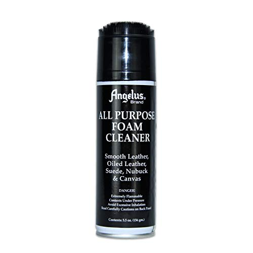 Angelus All Purpose Foam Cleaner - for use on Shoes, Boots, Bags, Jackets- Safe on Most Fabrics