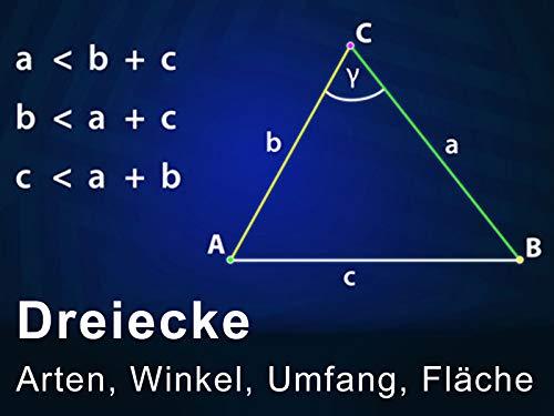Dreiecke - Arten, Winkel, Umfang, Fläche