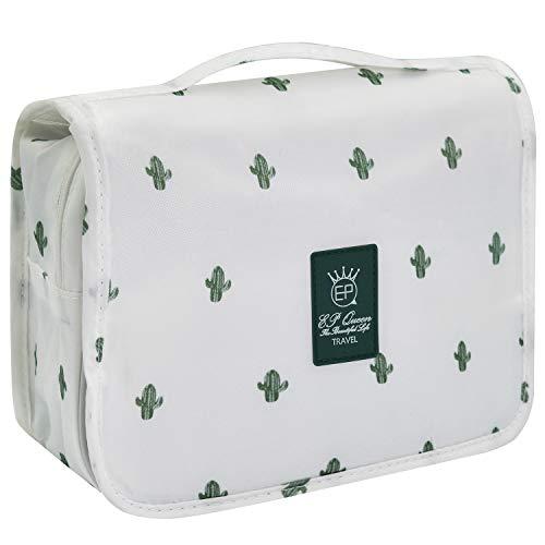 Portable Hanging Cactus Toiletry Makeup Bag For Women Men,Travel Cosmetic Bag Organizer -
