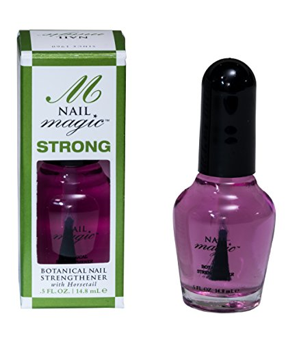 Nail Magic - STRONG, Botanical Nail Strengthener, 0.5 Fluid Ounces, Strengthen Weak, Thin Natural Nails with Silica-Rich Horsetail, Toluene, Formaldehyde & DBP Free, 60 Years of Superior Results