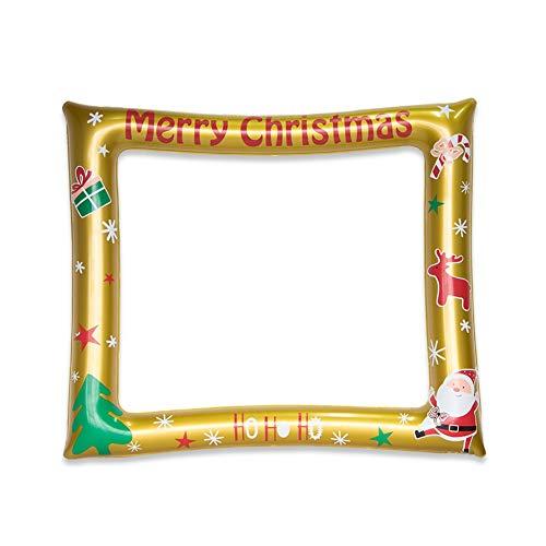 Blanchel Christmas Inflatable Photo Frame Holi Festival Photo Props Selfie Photo Frame...