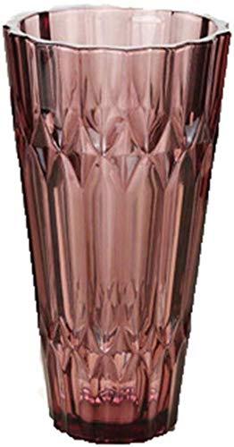 Vintage glazen vaas Bloem/Flower Bloemstuk for Home/Hotel/Office Decoratie Zonder Flower (Color : Red Trumpet)