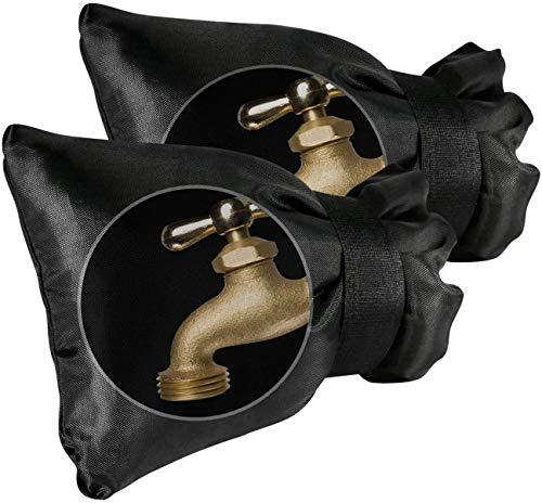 Lot de 2 grandes housses de robinet d'extérieur épaisses et étanches pour l'hiver - 21,8 x 18 cm - Compatible avec n'importe quel robinet standard