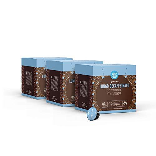 Marca Amazon - Happy Belly Cápsulas de Café Lungo Decaffeinato Compatibles con NESCAFÉ Dolce Gusto - 48 Porciones (3 Paquetes x 16 Cápsulas)