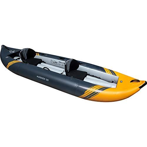 Aquaglide McKenzie 125 Inflatable Kayak - 2 Person Whitewater Kayak, Orange