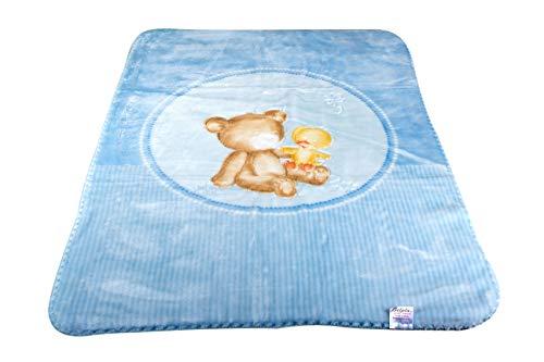 Mantas Blankets Babydecke Belpla, 80 x 110 cm/Aufmachung 1 Stück (blau)
