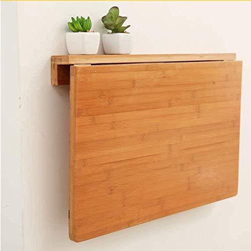 AOIWE Mesa plegable de pared de bambú, mesa de hojas de gota, encimera lisa y delicada, perfecta adición a la sala de estar, cocina y comedor/lavandería (tamaño: 100 x 45 cm)