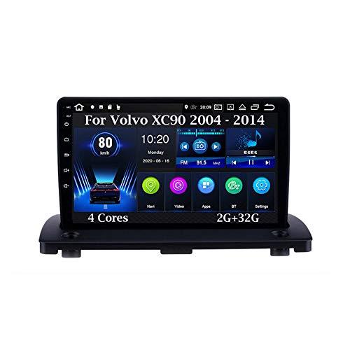 Android 10 Car Stereo 9 Pulgadas Pantalla Táctil Navegación GPS para Volvo XC90 2004 - 2014 4 Cores 2G+32G con Pantalla Coche Conecta Y Reproduce Bluetooth Multimedia FM/Am/RDS Video SWC