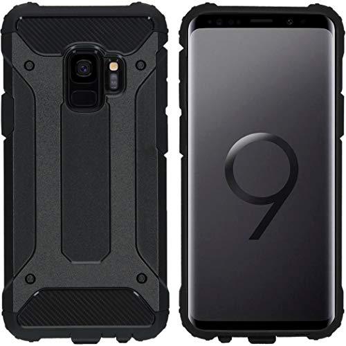 iMoshion kompatibel mit Samsung Galaxy S9 Hülle – Rugged Xtreme Back Cover Schutzhülle – Hard Hülle Handyhülle in Schwarz [Stoßabsorbierend, Dual-Layer Design]