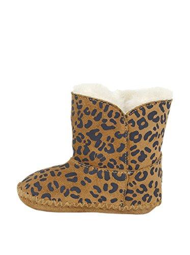 Ugg Australia UGG Unisex - Baby Classic Leopard Krabbelschuhe, Camel, EU 32/33 (US 2/3)