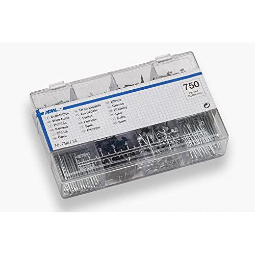 Metafranc Nagel-Sortiment 200 g - Drahtstifte & Kammzwecken im Set - Vorsortiert in praktischer Kunststoffbox - Geeignet für Haus, Werkstatt & Co. / Nagel-Set /...