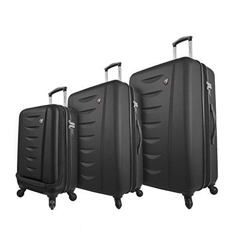 Mia Toro Italy Tasca Moderna Hardside Spinner Luggage 3 Piece Set, Black