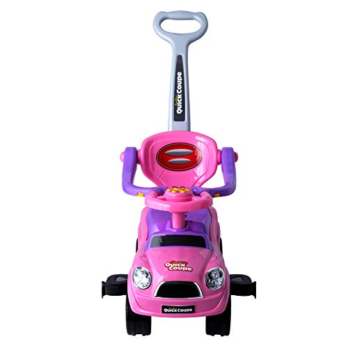Freddo Easy Wheel Quick Coupe 3 in 1 Ride on Push Car (Pink)
