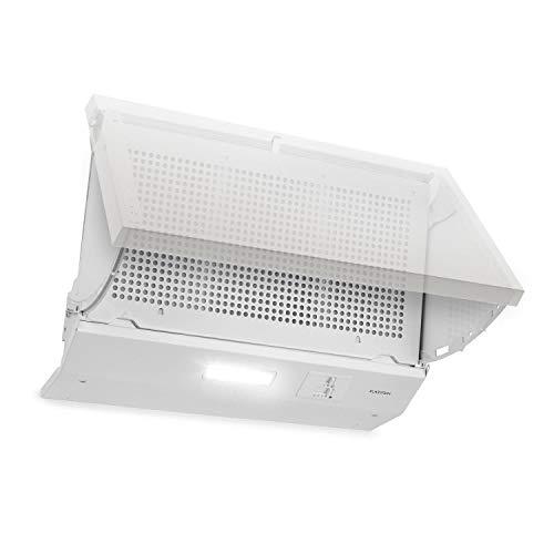 Klarstein Incognito Dunstabzugshaube - Zwischenhaube, Einbau, 59,5 cm, Energieklasse: C, 3 Geschwindigkeitsstufen, zuschaltbare Beleuchtung, Leistung: 250 m³/h, Ab- oder Umluftbetrieb, weiß