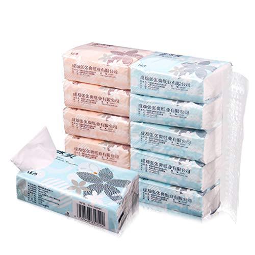 YU-HELLO 10 paquetes de 3 capas de toallas de papel de pulpa de corcho extraíbles.