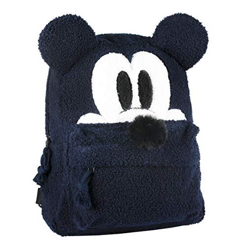 Cerdá Mochila Casual Moda Pelo Mickey, Azul, 34 cm (2100002332)