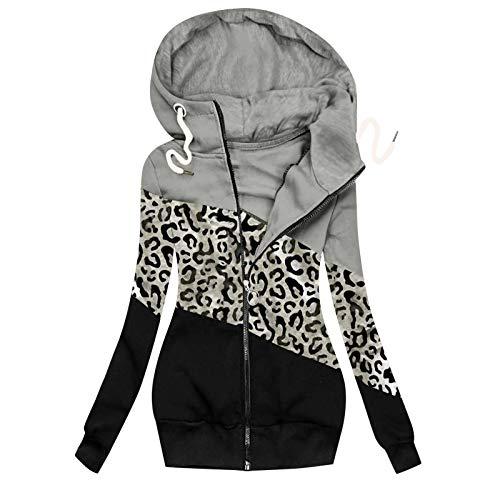 Chaqueta de Invierno para Mujer Abrigo Reversible Parka Mujer Jacket Ajustada Rompeviento de Punto Suéter Ropa de Calle Sudadera Hoodie Sweatshirt Cárdigans