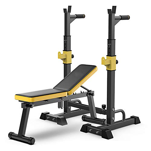 DULPLAY Adjustable Foldable Weight BenchIncline Decline Bench Press Exercise Equipmentfor Lifting Sit Up Home Gym and Full Body Workout Black