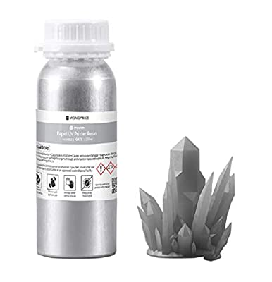 Monoprice Rapid UV 3D Printer Resin - 250ml - Gray Compatible With All UV Resin Printers DLP, Laser, or LCD