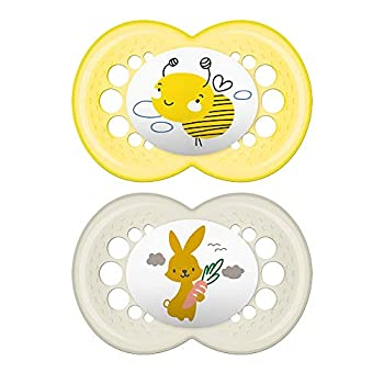 MAM My Little Farm Pacifier  2 Pack 1 Sterilizing Pacifier Case  Baby Pacifiers 16 Plus Months Unisex Pacifier Best Pacifiers for Breastfed Babies