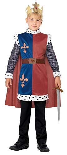 Smiffy's King Arthur Costume Disfraz medieval del rey Arturo de Smiffys, color rosso, Teen Boy-12 years BR44079XL