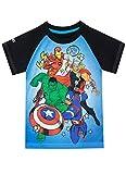 Marvel Camiseta de Manga Corta para niños Avengers Azul 9-10 Años