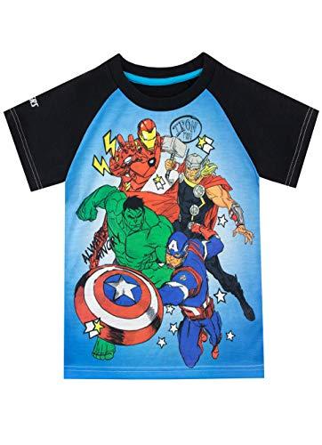 Marvel Jungen Avengers T-Shirt Blau 140