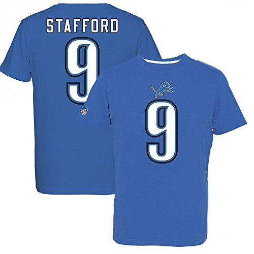 Majestic Lions Stafford 9 Camiseta, Azul, XL para Hombre
