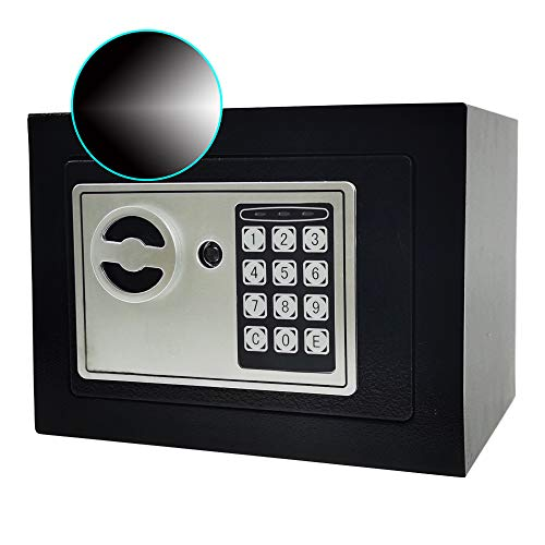 Sdstone Digital Safe with Induction Lamp,Security Home Safe with Keypad, Wall or Cabinet Anchoring Design -Protect Cash Money, Jewelry, Passports-for Home, Business or Travel
