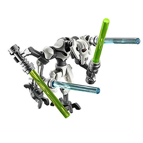 Star WarsBady General Robot Grievous with Lightsaber Battle Droid Model Building Blocks Enligthen Action Figure Toys for Children WhiteGrievous 2pcs