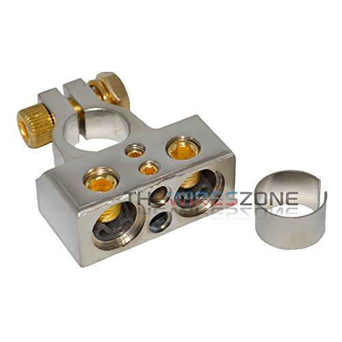 BT1088 Platinum Dual 1/0 or 4 & 8 Gauge Positive or Negative Battery Terminal